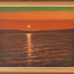 70 Auringonlasku Räyringin järvellä
