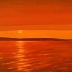 271 Auringonlasku Räyringin järvellä