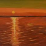289 Auringonlasku Räyringin järvellä