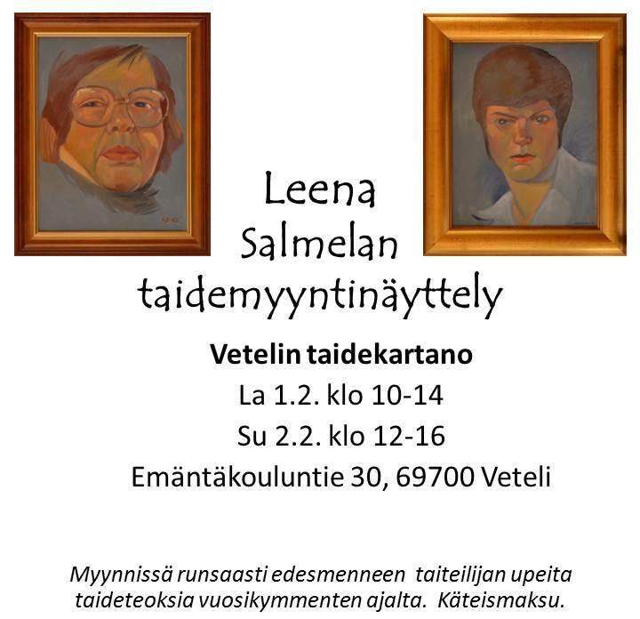Leena Salmelan taidemyyntinäyttely - Esite 2
