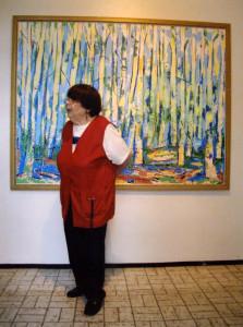 S-VK-1272W - Leena Salmela taidenäyttelyssä 2013