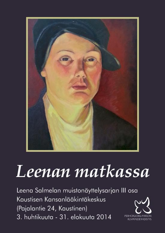 Näyttelyjuliste 2014 - Leenan matkassa